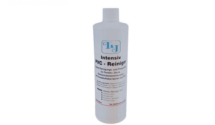 Das Reinigungsmittel für weiße, glatte PVC-Oberflächen hat einen Inhalt von 500 ml und beseitigt Fingerabdrücke, Vergilbungen sowie leichte Grünbeläge