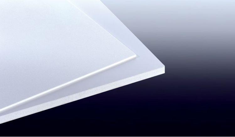 Unsere 19 mm Integral-Hartschaumplatte hat das Maß 1250 x 3000 mm. Die Oberfächenstruktur ist Glatt-Samtmatt.