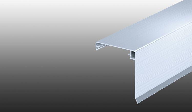 Klemmdeckel für Stegplatten-Aluprofile aus pflegeleichtem Aluminium mit funktionalem Wetterschenkel zum Schutz der Unterkonstruktion. Farbe: Pressblank