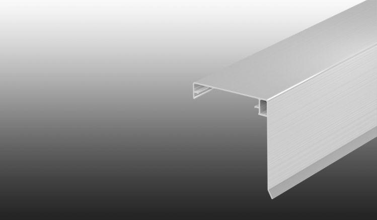 Matt-farbener Klemmdeckel aus rostfreiem Aluminium - inkl. seitlichem Wetterschenkel