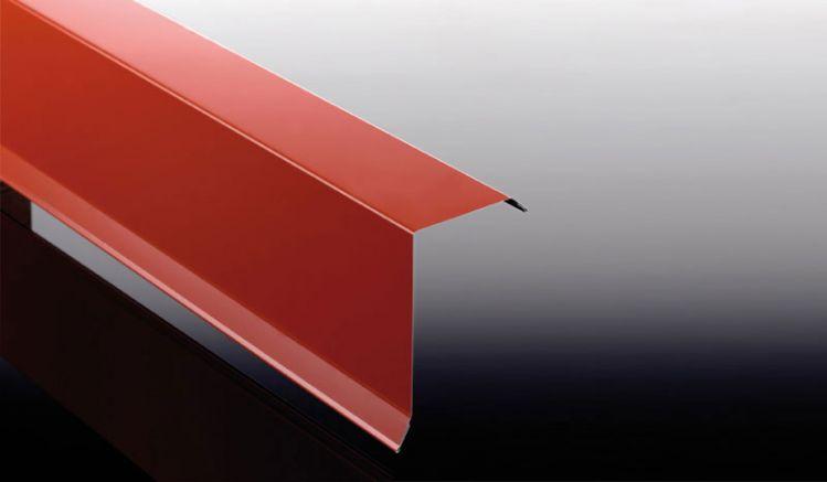 Das Ortgangblech aus Stahlfeinblech hat eine Stärke von 0,75 mm. Das Maß beträgt: 80 x 140 x 500 / 1000 / 1500 / 2000 / 2500 / 3000 / 3500 mm.