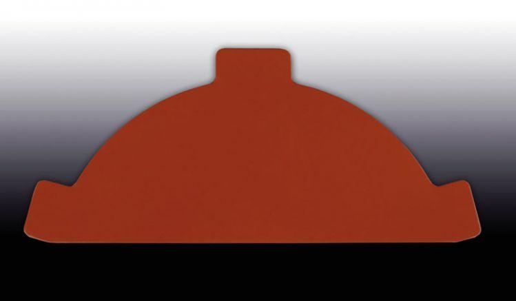 Das nach DIN 18807 güteüberwachte Pfannen-Firstblech Endstück hat eine Stärke von 0,5 mm. Beschichtet mit einem 25 my Polyesterlack. Es dient zum Verschließen der vorderen und hinteren Firstenden.