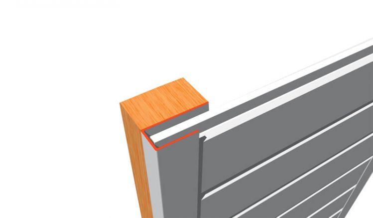 Die 6000 mm U-Abschlussleisten für 17 mm PVC-Paneele sind in den Farben Weiß und Grau lieferbar. Individuelle Zuschnitte sind unkompliziert möglich