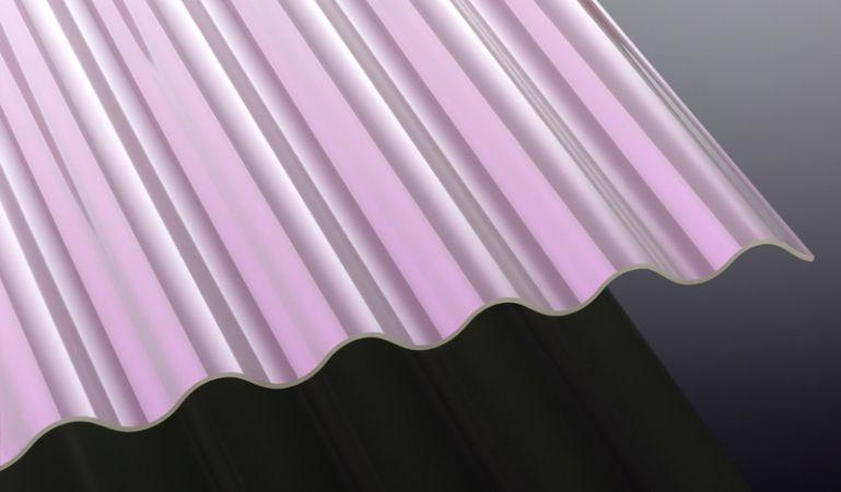 Unsere Sunstop Acryl Wellplatten mit hoher Schlagzähigkeit und runder Welle verringern die Sonneneinstrahlung. Sie können zwischen Längen von 2000 - 5000 mm wählen oder die Platten zuschneiden lassen.